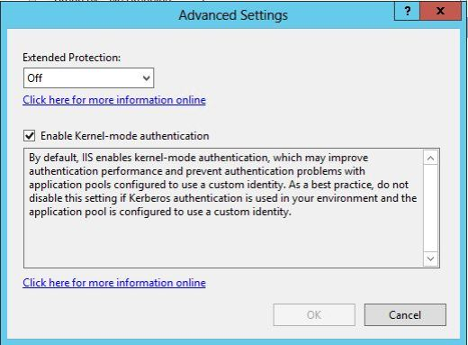 Fix for Outlook 2010/2013 prompts for user id and password