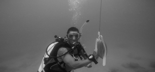 Adventure underwater in black and white @ Ft. Lauderdale, Florida 2.jpg