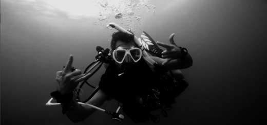 Adventure underwater in black and white @ Ft. Lauderdale, Florida 4.jpg